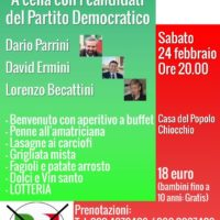 24 febbraio: cena a Greve in Chianti con Ermini e Becattini