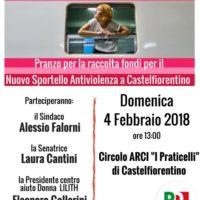 4 febbraio: Castelfiorentino, a pranzo per il progetto Binario Donna