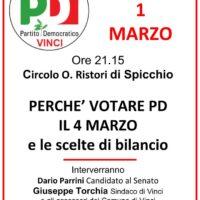 1 marzo: a Spicchio