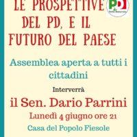 4 giugno: assemblea a Fiesole