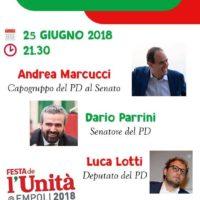 25 giugno: Alla Festa dell'Unità a Empoli