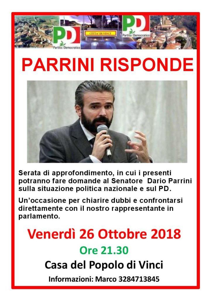 26 ottobre: #parrinirisponde alla Casa del Popolo di Vinci