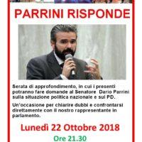 22 ottobre: #parrinirisponde alla casa del popolo di Spicchio