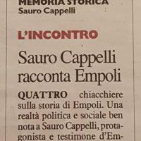 3 gennaio: Empoli, tutti da Sauro Cappelli