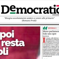Il mio editoriale su democratica