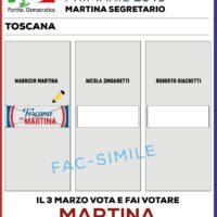 3 marzo: voterò Martina alle primarie