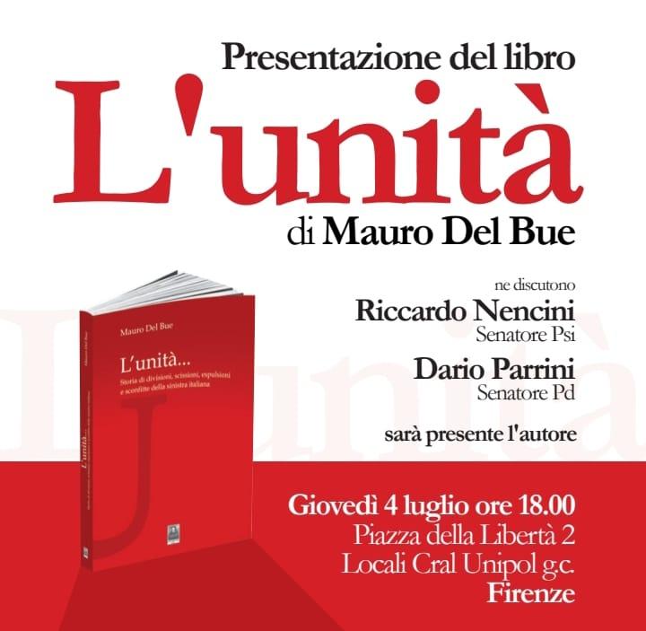 4 luglio, Firenze. Presentazione Libro di Mario Del Bue
