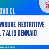 Le nuove misure anti Covid19 per il periodo 7-15 gennaio