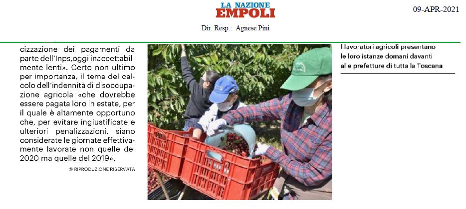 A FIANCO DEI LAVORATORI AGRICOLI. INTERROGAZIONE AI MINISTRI DEL LAVORO E DELL'AGRICOLTURA