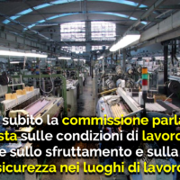 COSTITUIRE SUBITO LA COMMISSIONE PARLAMENTARE DI INCHIESTA SULLE CONDIZIONI DI LAVORO IN ITALIA E SULLO SFRUTTAMENTO E SULLA SICUREZZA NEI LUOGHI DI LAVORO